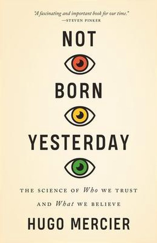Boek cover Not Born Yesterday van Hugo Mercier (Hardcover)