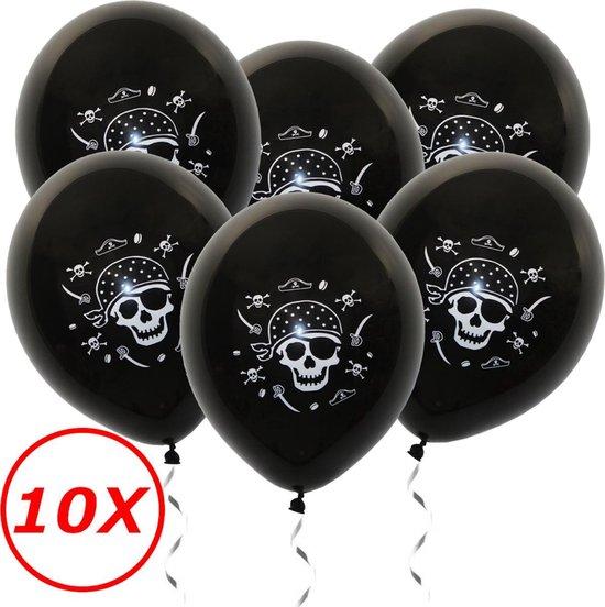 Halloween Versiering Decoratie Helium Ballonnen Feest Versiering Halloween Accessoires Ballon Zwart Piraat – 10 Stuks