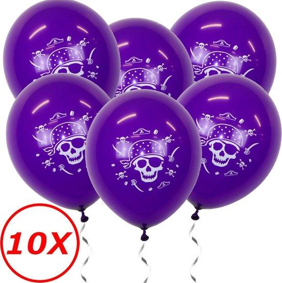 Halloween Versiering Decoratie Helium Ballonnen Feest Versiering Halloween Accessoires Ballon Paars Piraat – 10 Stuks