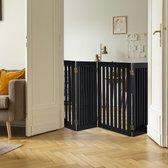 relaxdays Veiligheidshekje - 70 cm hoog - kinderhek - hondenhek - diverse breedtes - zwart