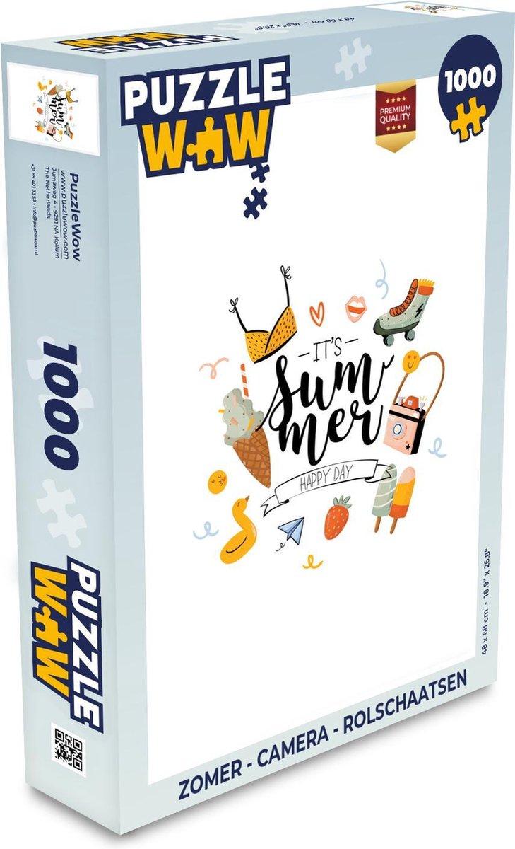 Puzzel Zomer - Camera - Rolschaatsen - Legpuzzel - Puzzel 1000 stukjes volwassenen