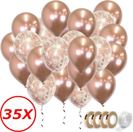 Verjaardag Versiering Helium Ballonnen Feest Versiering Decoratie Confetti Ballon Bruiloft Rose Goud - 35 Stuks