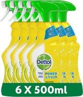 Dettol Power & Fresh - Allesreinger Spray - Citrus - 6 x 500 ml