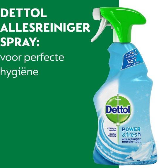 Dettol Power & Fresh - Allesreiniger Spray - Katoenfris - 6 x 500 ml