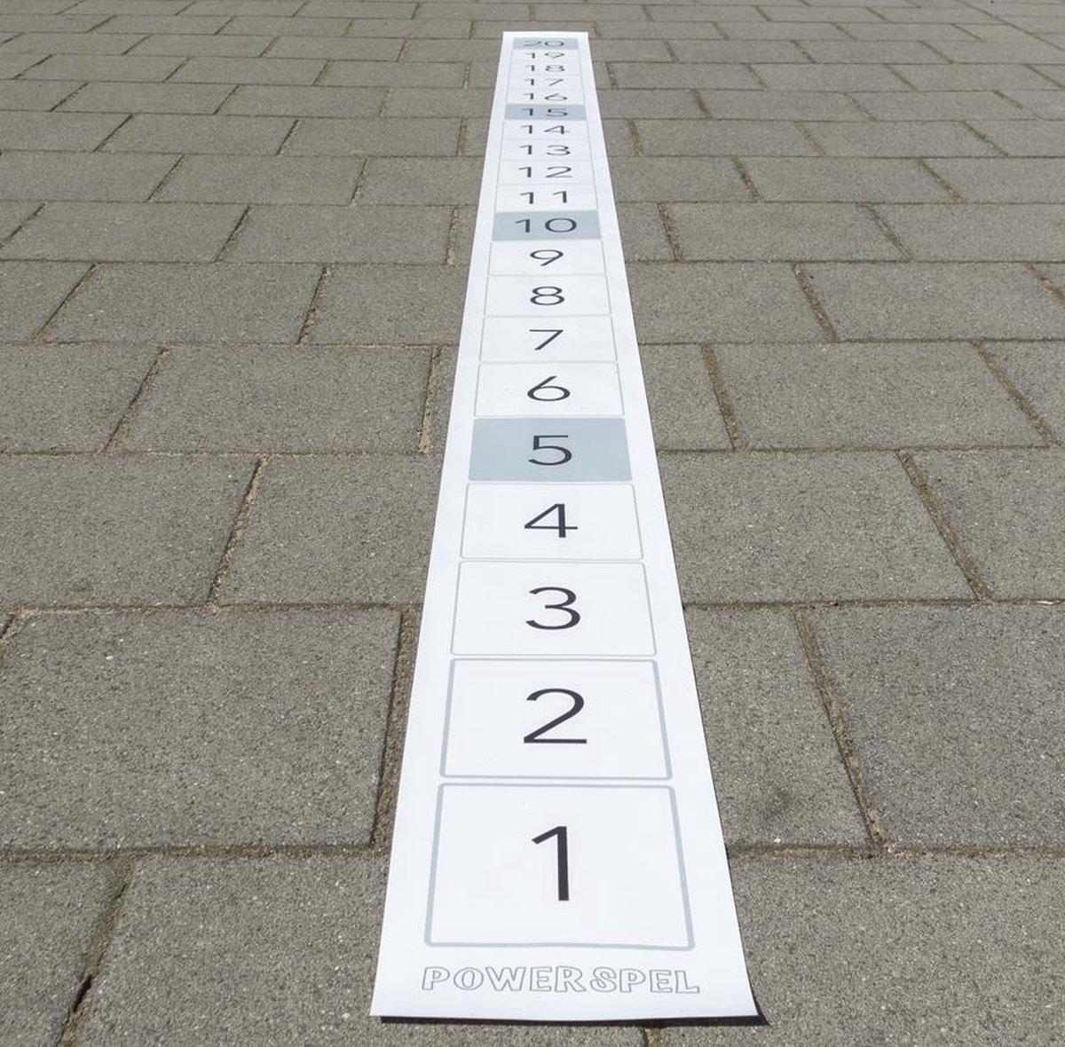 Leermat getallenlijn tot 20