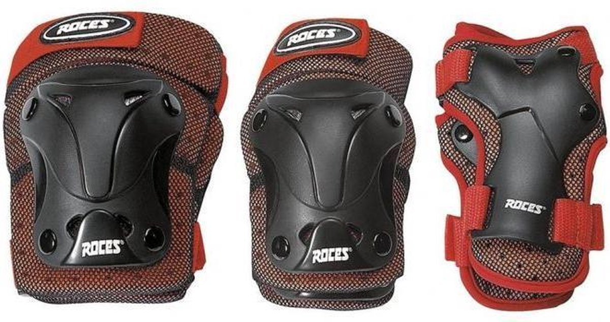 Roces - Beschermset - 3-Delig - Junior - Zwart/Rood - Maat M