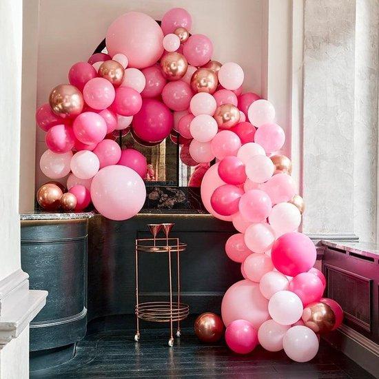 Ballonnenboog Groot Roze & Rosé Goud Ginger Ray