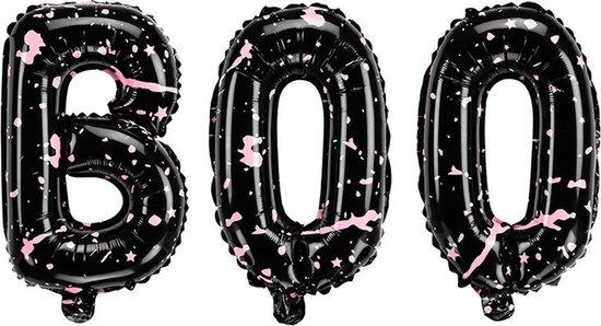 Halloween Helium Folie Ballon BOO! 65x35cm - Pink Halloween - Partydeco