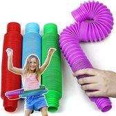 Monno® Pop Tube XL - Fidget Toys - Pop Buizen - Wacky Tubes - Fidget tube - 4 Stuks