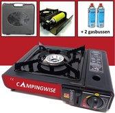 camping kooktoestel op gas inclusief opbergkoffer