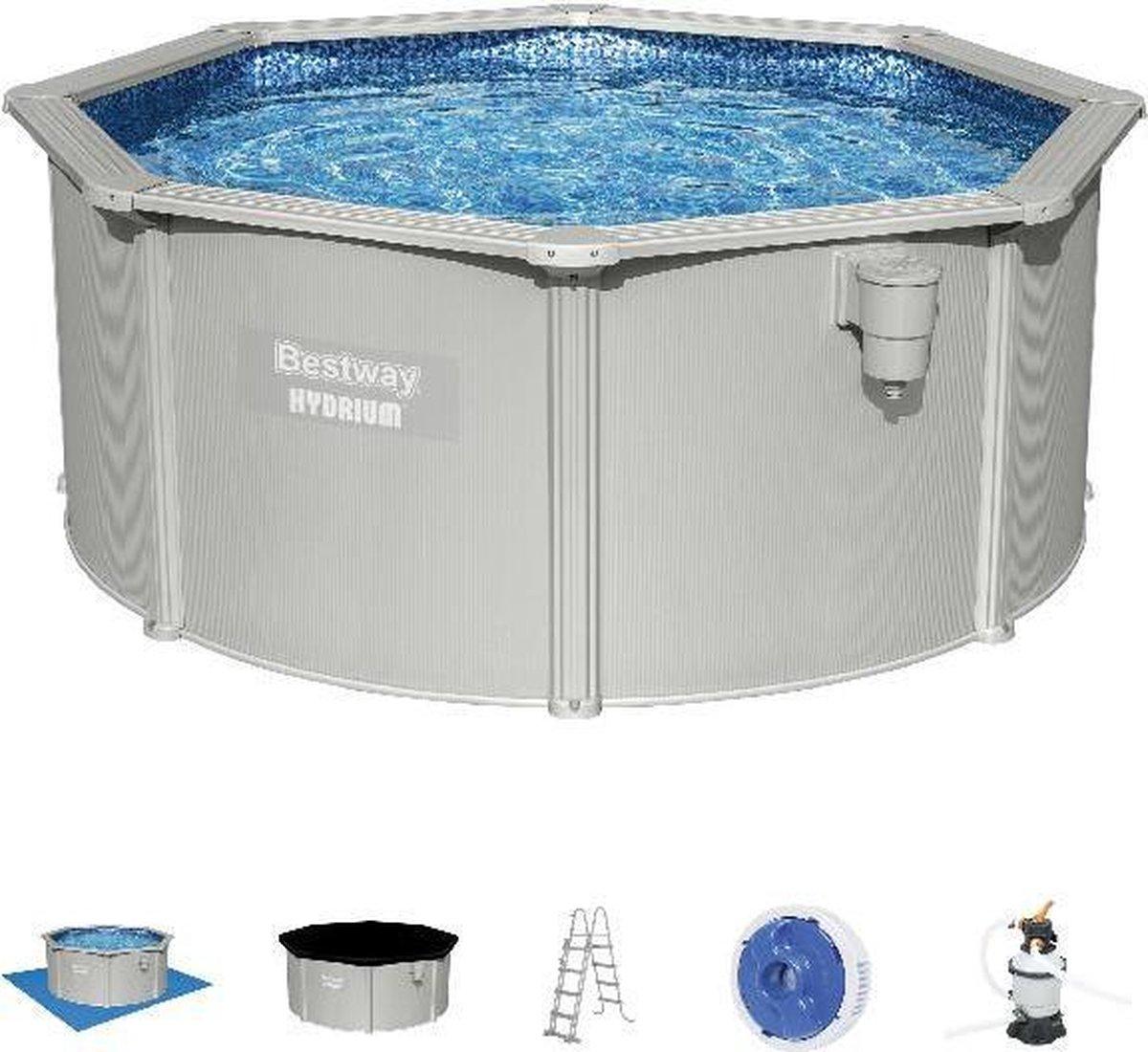 Bestway zwembad hydrium set (zandfilter) rond 300