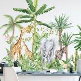 Muursticker   Giraffe   Olifant   Zebra   Wanddecoratie   Muurdecoratie   Slaapkamer   Kinderkamer   Babykamer   Jongen   Meisje   Decoratie Sticker  