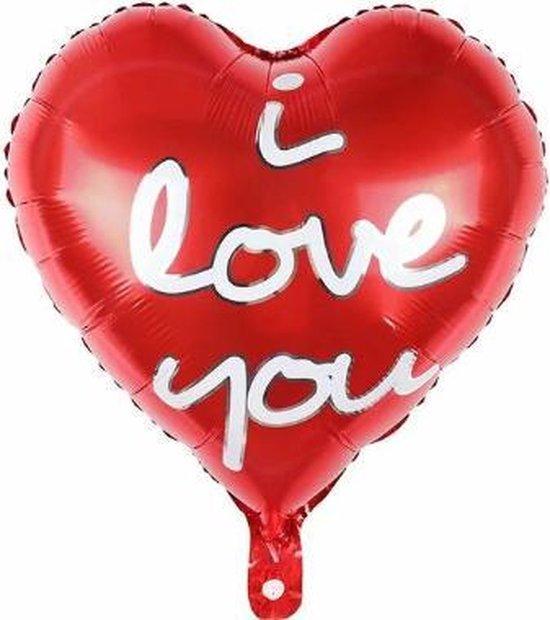 Hart ballon - 45x45cm - Moederdag cadeautje - Love - Folie ballon - Valentijn - Liefde - Huwelijk - Verassing - Ballonnen - Hart - Helium ballon - Valentijnsdag cadeau