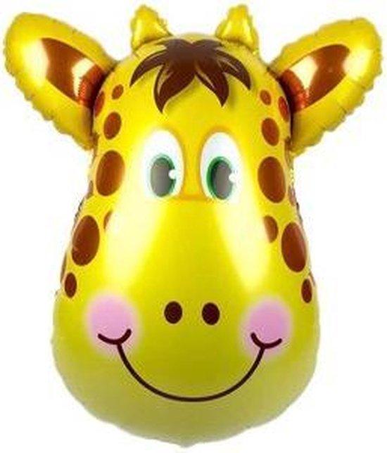 Giraffe ballon - 89x78cm - XL - Versiering - Thema feest - Verjaardag - jungle - Dieren - Jungle versiering - Folie Ballon - Ballonnen - Helium ballon