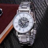 Quartz Zilveren heren Horloge • Quartz • Zilver • Silver • Herenhorloge • Heren