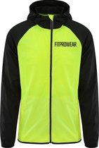 FitProWear Unisex Hardloopjas Geel/Zwart - Maat XXL - Sportjas - Hardloopjas - Fietsjas - Running Jacket - Windjas - Windshield Jacket - Regenjas - Jas hardlopen