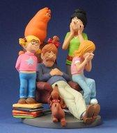 Jan, Jans en de kinderen (familie in zetel) - Parastone