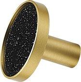 Kastknop Jaim | Glitters Goud Zwart |Messing Metaal| Losse knoppen voor laden en deuren |Rond| Meubelknop | Kast greep Deurknopjes |Ladegreep | Meubelknoppen |Kastgreepje|Meubel beslag|Drawer knob|Meubelhandvat | Commode|ladekast | Keukenkastdeurtjes