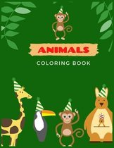 Animals Coloring Book: Animals Coloring Book for Kids Great Gift for Boys & Girls Ages 5-12