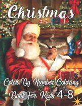 Christmas Color By Number Coloring Book For Kids Ages 4-8