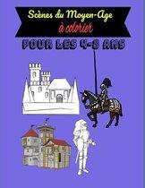 Scenes du Moyen-Age a colorier