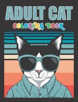 Adult Cat coloring book