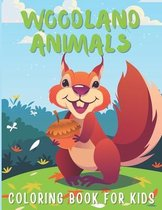 Woodland Animals Coloring Book For Kids