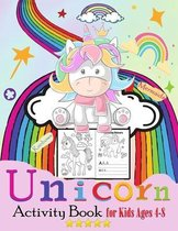 Unicorn, Rainbows Mermaids Activity Book for Kids Ages 4-8