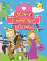 Princess Coloring Book For Girls Aged 5