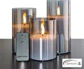 Zentastic® Luxe 3D Led Kaarsen met Bewegende Vlam - 3 stuks - Theelichtjes – Waxinelichtjes – met Afstandsbediening