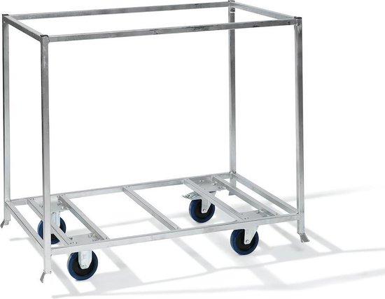 Koelkast: Cooldura Set Koelkist + Transportkar - Model S3M met glazen schuifdeksel - 258 L, van het merk Cooldura