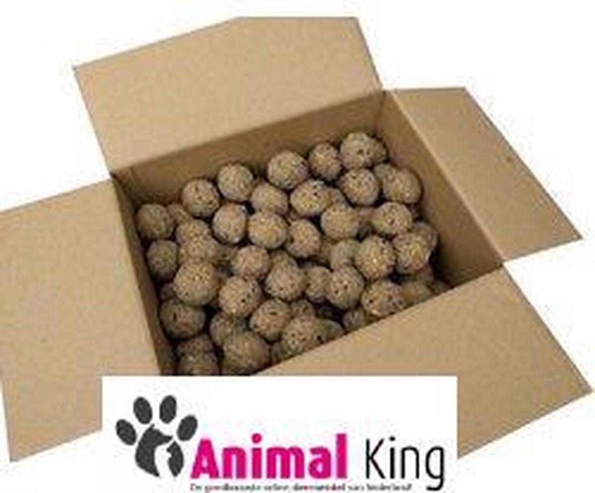 Mezenbollen zonder netje-100 stuks-buitenvogelvoer-Animal King