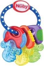 Beweeg over de afbeelding om in te zoomen Nuby - Baby Speelgoed Koelbijtsleutels met 3 sleutels, voor 3 keer langer actieve koude - voor baby's vanaf 3 maanden - blauw