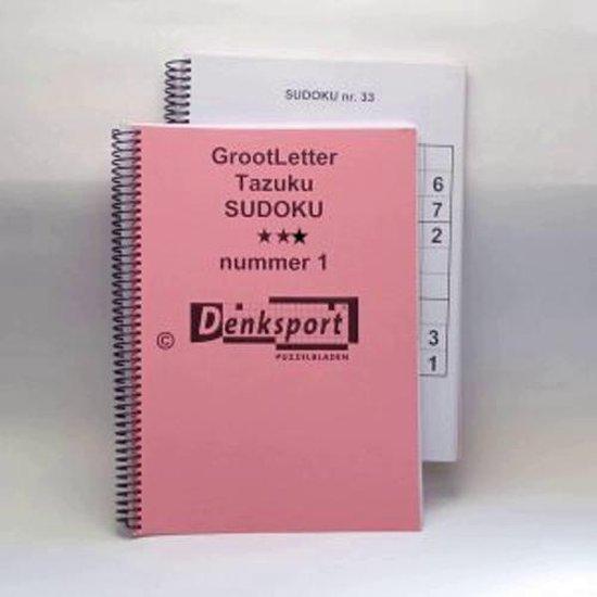 Afbeelding van Denksport Groot letter Sudoku puzzels. Moeilijkheidsgraad: 3-sterren