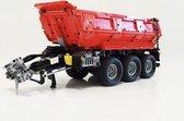 Rode kiepwagen voor Technic Claas Xerion 5000 Track VC (42054)   - Kiepkar - wagen - kar - trailer - Rood - 2249 bouwstenen - Toy Brick Lighting
