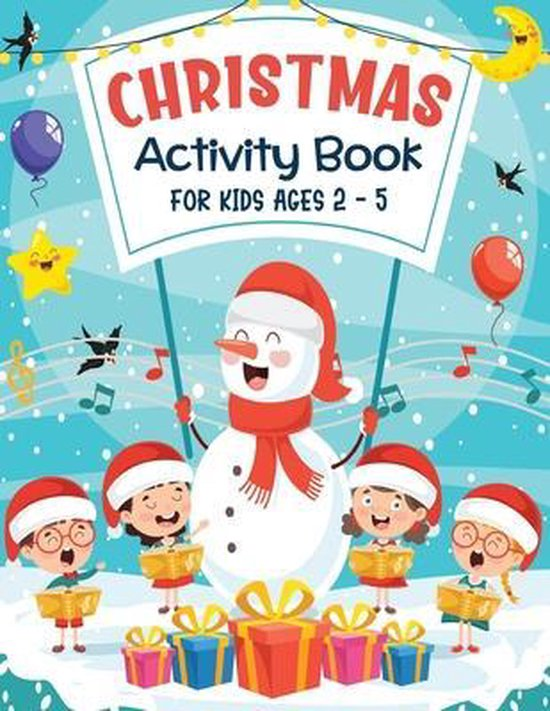 Christmas Activity Book For Kids Ages 2-5