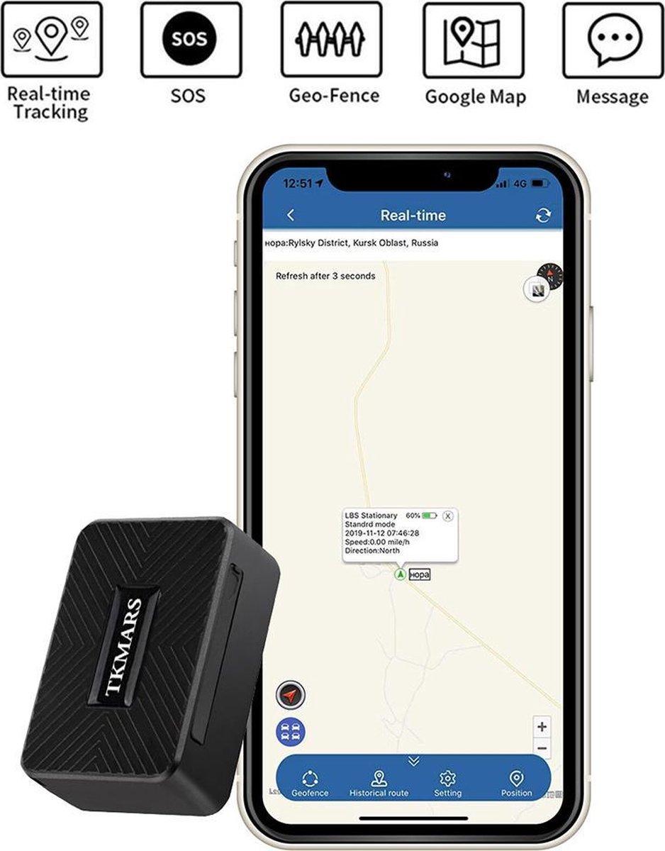 Mini GPS Tracker voor Kinderen Ouderen Fiets Auto Magnetische GPS Real Time Tracking Anti Verloren GPS Tracker Locator IP65 Waterdicht Gratis APP