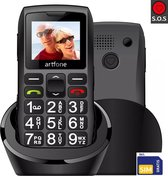 Mobiele Senioren Telefoon - C1+ - MET OPLAADSTATION - GRATIS SIMKAART - NL GEBRUIKSAANWIJZING - SOS functie - NEDERLANDSE INSTELLINGEN - Grote Lettertypes - Extra Luide Beltoon - Valbescherming - Senioren GSM - Senioren mobieltje - Simlock Vrij