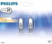 Philips G4 12v 14watt (20W) Steeklampje Halogeen (2 stuks)