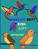 WORLD'S BEST BIRD GIFT coloring book