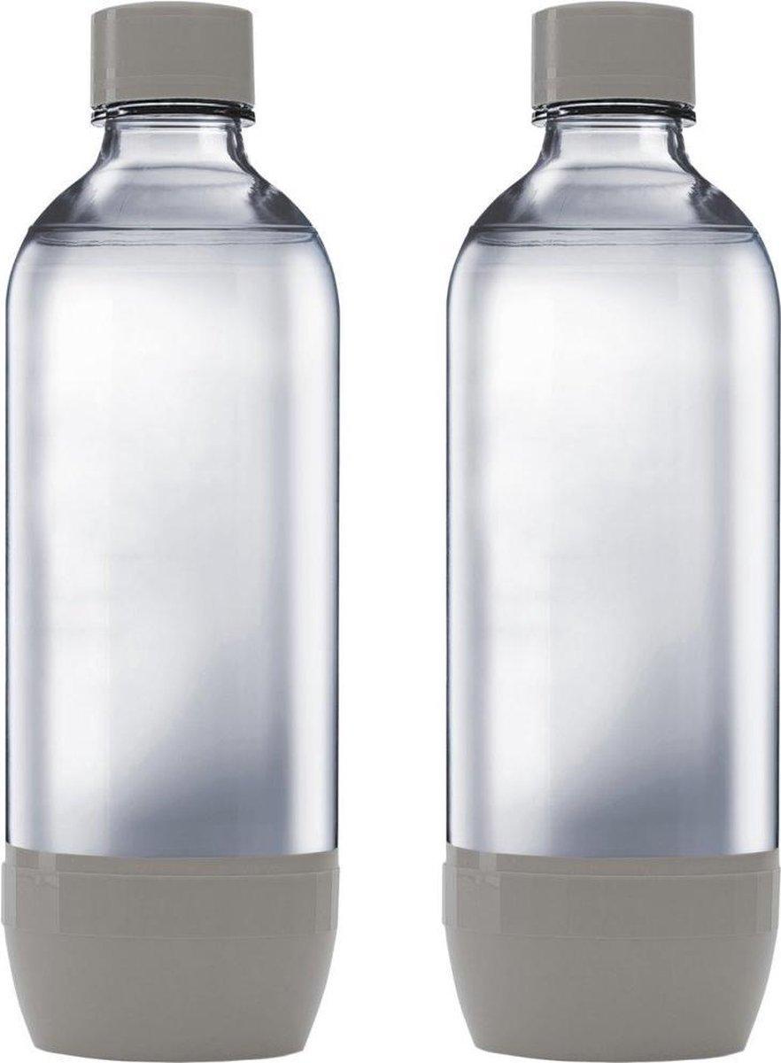 SodaStream Duopack drinkfles - 1 L - 2 stuks - Grijs
