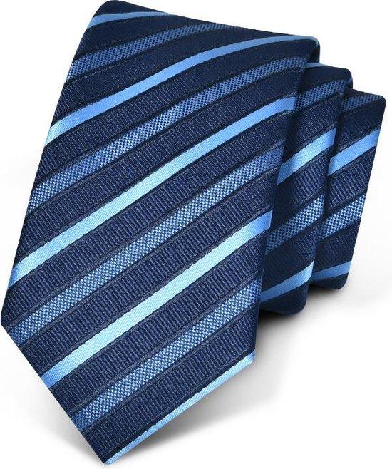 Premium Ties - Luxe Stropdas Heren - Polyester - Blauw - Inclusief Luxe Gift Box!
