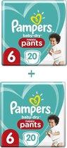 Pampers Baby-Dry Pants - Maat 6 (15kg+) - 40 Luierbroekjes (2x20)