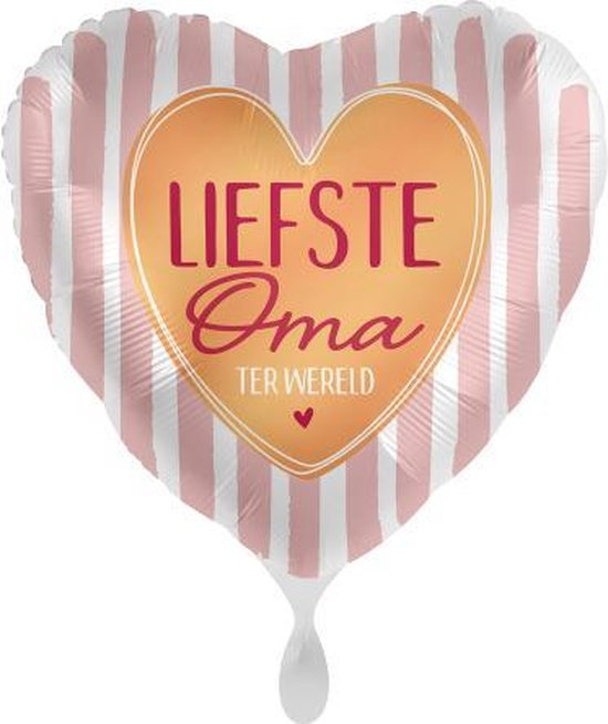 Everloon - Folieballon - Liefste Oma Ter Wereld - 43cm