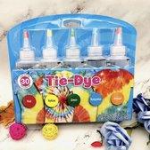 Tie-Dye kit van hoge kwaliteit Kit 3 - Complete kit van 5 kleuren textiel - Tie Dye set - Tie Dye verf premium kwaliteit