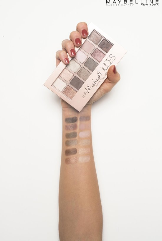 Maybelline The Blushed Nudes OogschaduwPalette - 12 roze nude tinten