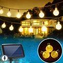J-Pro Tuinverlichting op Zonne-Energie - 100 Solar LED 17m Cristal Lichtsnoer - Lichtslinger