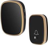 Direct-security Q188-WW intelligente draadloze afstandsbediening waterdichte deurbel pager met 45 akkoorden muziek, US plug / UK plug / EU plug - Black