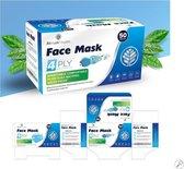 Mondkapjes 4-laags (50 stuks) | Wegwerp | CE gecertificeerd | Uitstekende kwaliteit |Geschikt voor OV en Kantoor|Betere bescherming dan 3 laags mondkapje!! An Phu