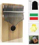 Kalimba set - 17 tonen - Duimpiano - Muziekinstrument - Gemaakt van bamboehout